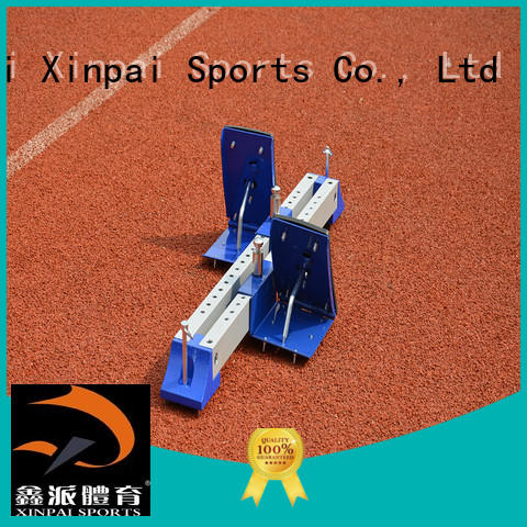 Xinpai starting track and field gear applied for tournament