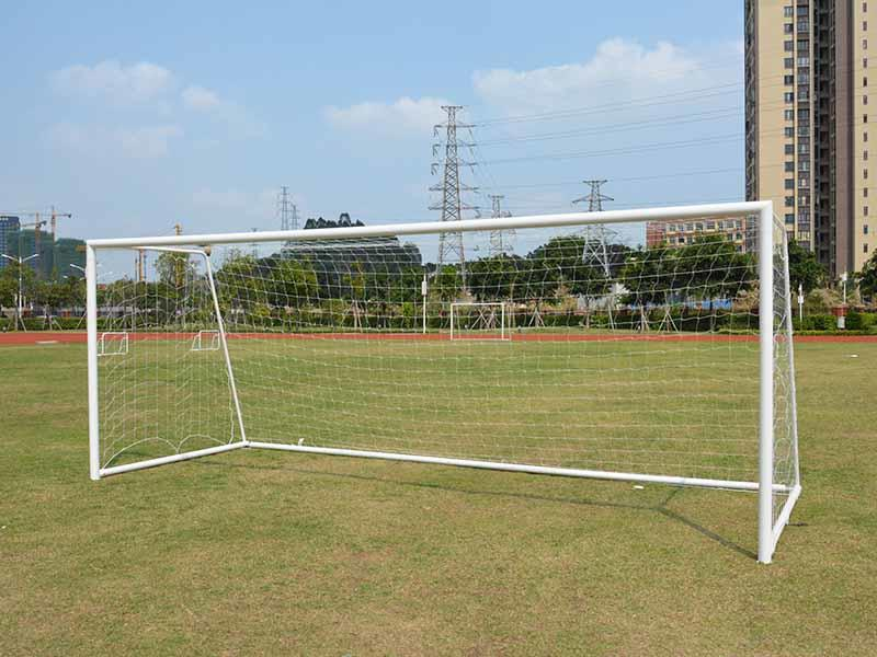 Let's see our 7.32*2.44-m  Football goal!  11-on-11 game Portable 8'*24'  steel soccer goal XP033S