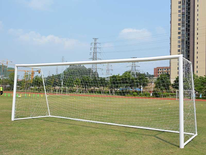 11 on 11 game steel soccer goal football gate 7.32*2.44 meter XP033S