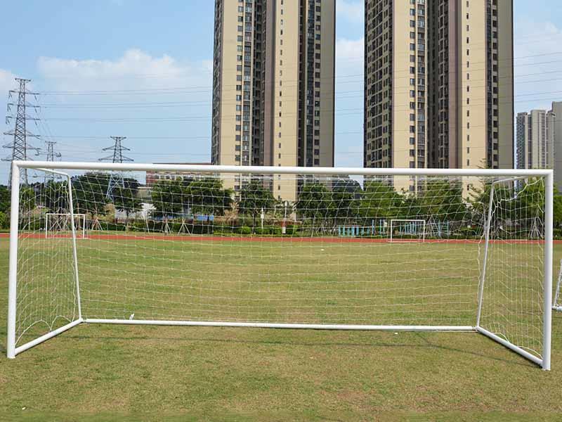 11 on 11 game steel soccer goal football gate 7.32*2.44 meter XP033S