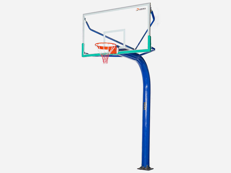 Form-in-one-piece grounding basketball post XP009