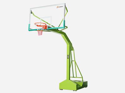 Quadrate rectangle tube movable basketball stand basketball post XP008