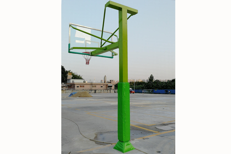 Quadrate tube squared tube grounding basketball post XP006
