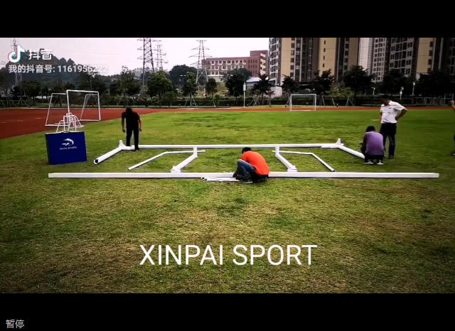 Amazing! Install a soccer goal football gate only 22 seconds!