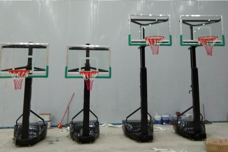 3-on-3 game movable adjustable height basketball goal basketball post XP016