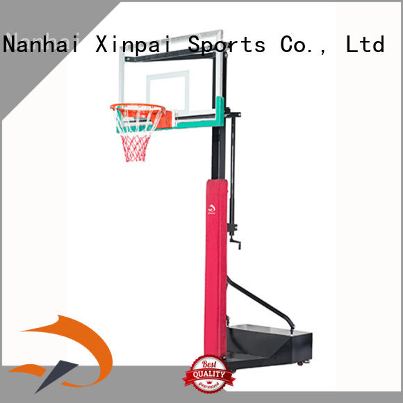 Xinpai cost effective hydraulic basketball stand selection of most Guangdong schools for training