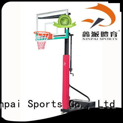 Xinpai adjustable basketball backstop rich product line for basketball game