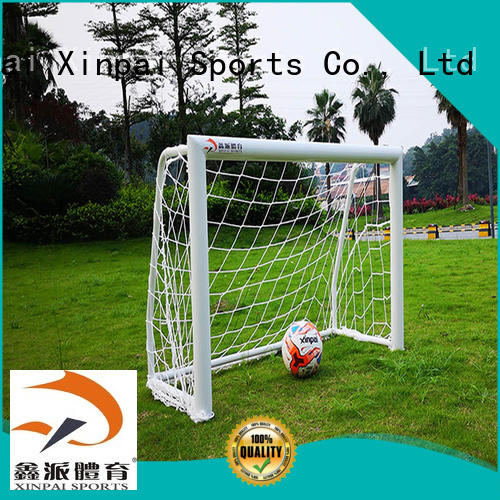 setting soccer goal frame visiting for training Xinpai