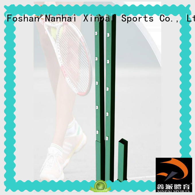 professional tennis net and posts upright for training
