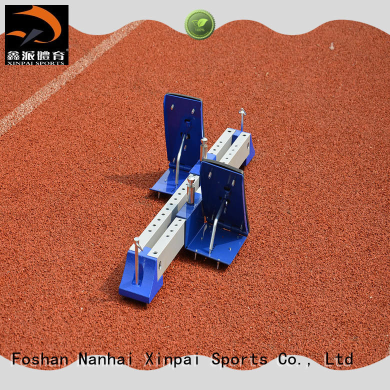 outdoor track and field starting blocks trapeze widely used for competition