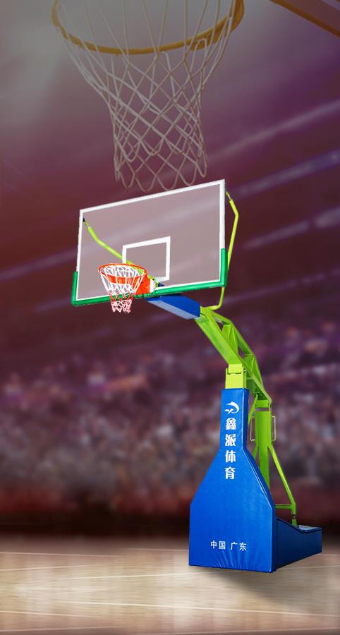Instruction of Imitated Hydraulic basketball stand/wholesale basketball equipment/basketball backstop XINPAI XP005