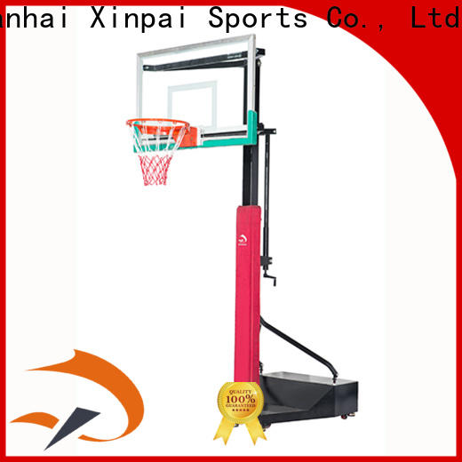 Xinpai volleyball in ground basketball pole supplier for basketball game